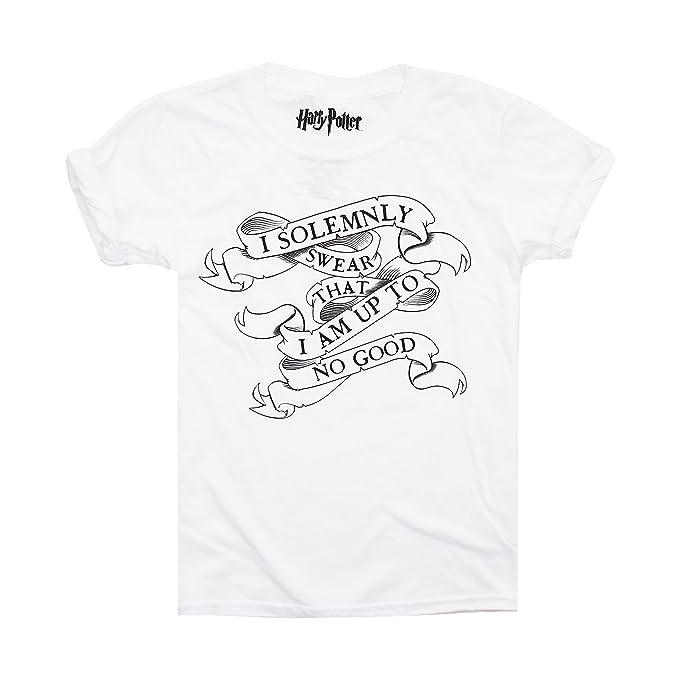 HARRY POTTER I Solemnly Swear, Camiseta para Niñas, Blanco (White Wht), 7-8 Años: Amazon.es: Ropa y accesorios