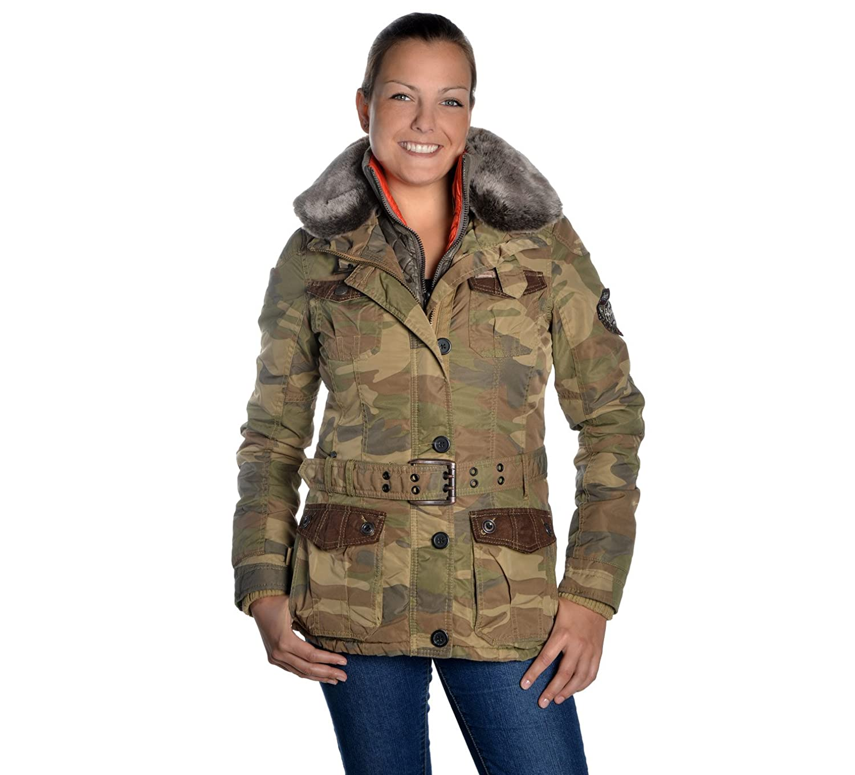 Khujo Magda Damen Winterjacke in camouflage, L [4042