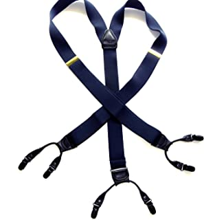 product image for Holdup Suspender Company's XL Ocean Blue Double-ups style Suspenders with black No-slip Metal Clips