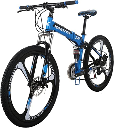 LZBIKE Bicycle G6-26 26-inch Bike Mountain Bike 26 21-Speed Shift Left 3 Right 7 Cycle Folding Mountain Bike Frame Shock Absorption Mountain Bike 3 Spoke Wheels Bicycle