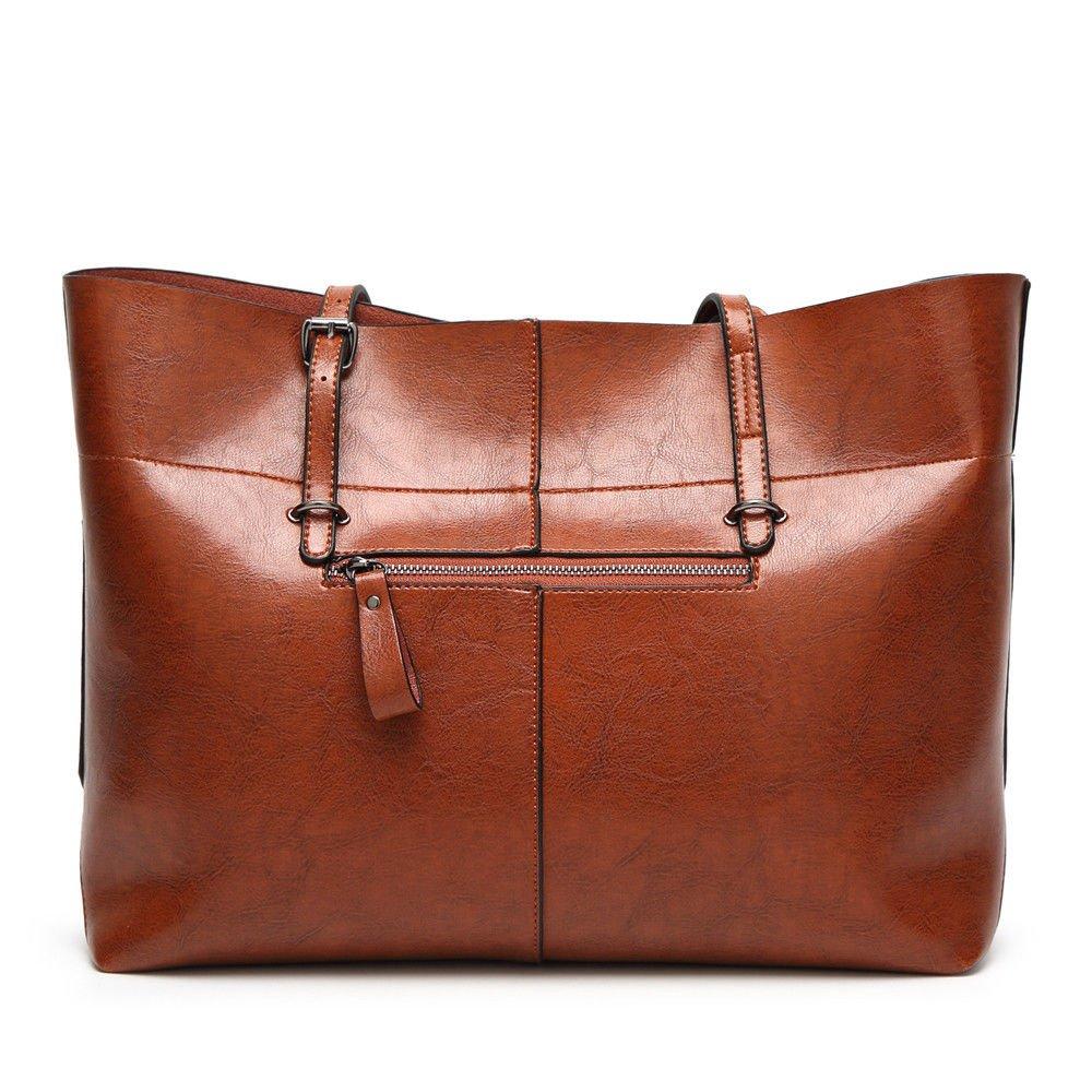 Fashion Single Bag Women Handbag Large Package And Large Capacity,Brown,38X27X13Cm