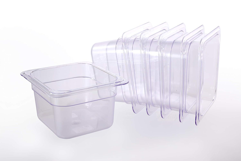 Hakka 1/6 Size Polycarbonate Food Pans,2.5