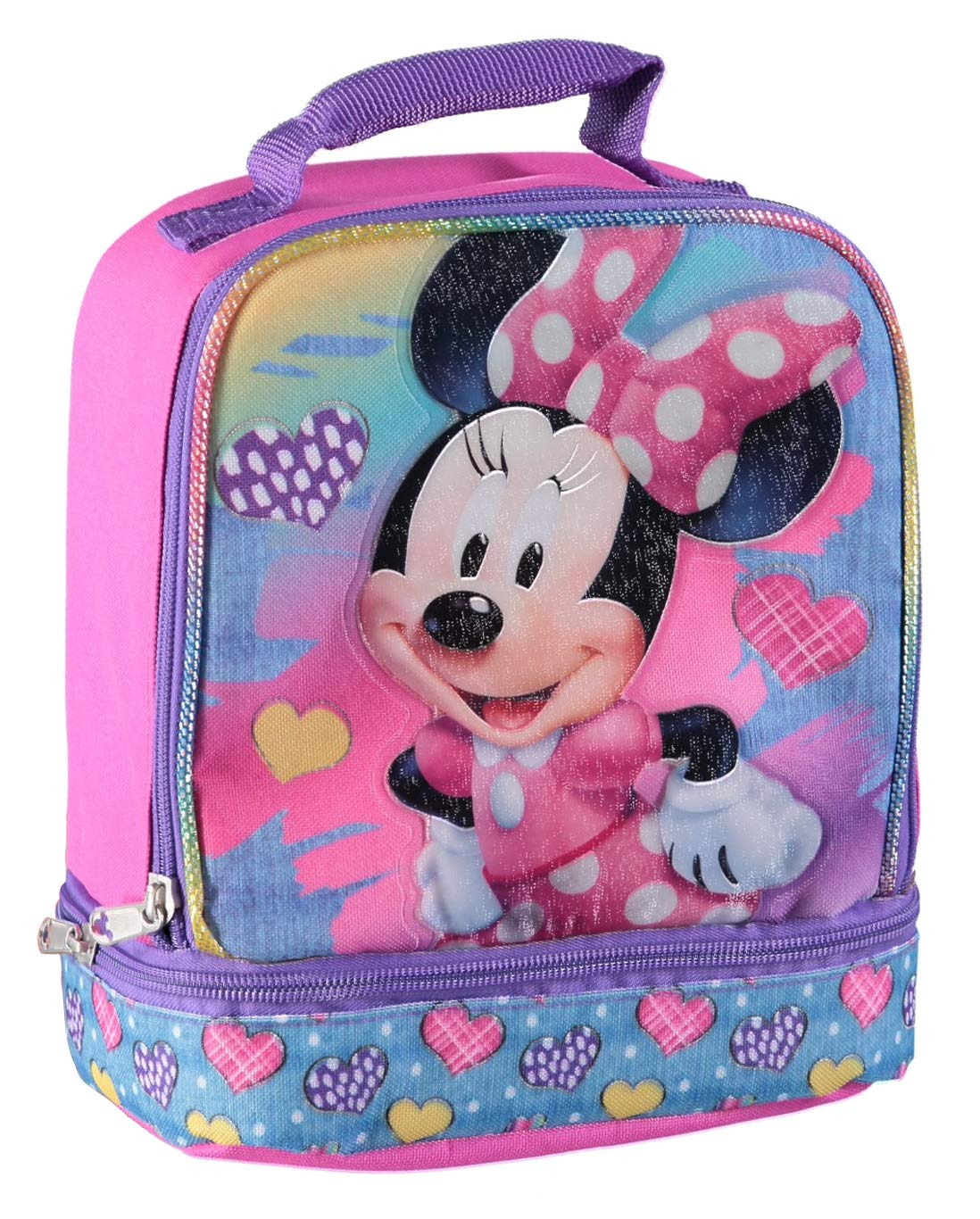 Disney MN29130-SC-BK00 Minnie Mouse Dual Compartment Ears Insulated Lunch Kit, One Size, Black