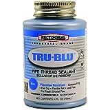 Rectorseal 31631 1/4 Pint Brush Top Tru-BluPipe Thread Sealant , Blue