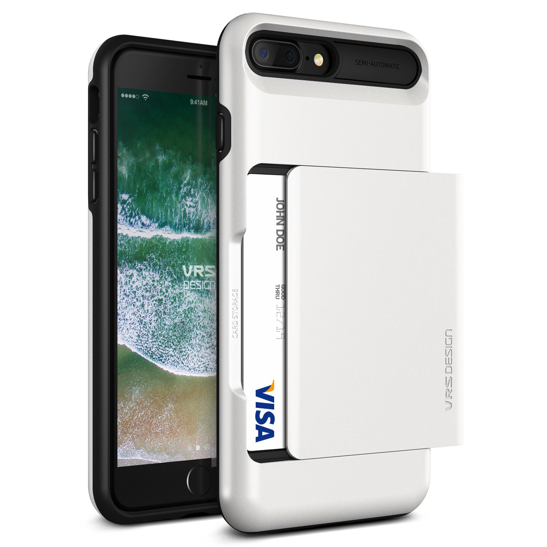 cheaper d72c1 69a2e Amazon.com: VRS DESIGN iPhone 8 Plus, 7 Plus [Damda Glide] Credit ...