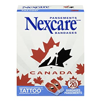 Nexcare Tattoo Waterproof Bandages Hockey Canada 20 Bandages Per