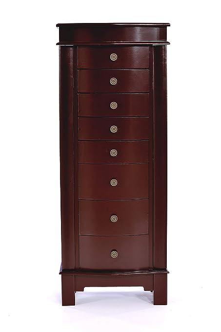 Amazon Com Elpitha Jewelry Cabinet With Mirror Jewelry Armoire