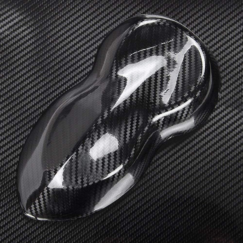 Winiron Autofolie 5D Carbon Folie Autofolie 3M Aufkleber Vinyl Wrap 5D DIY Auto Folie mit Luftkan/äle Verdickt Dekorative Schwarz 152 * 30cm 5D Schwarz