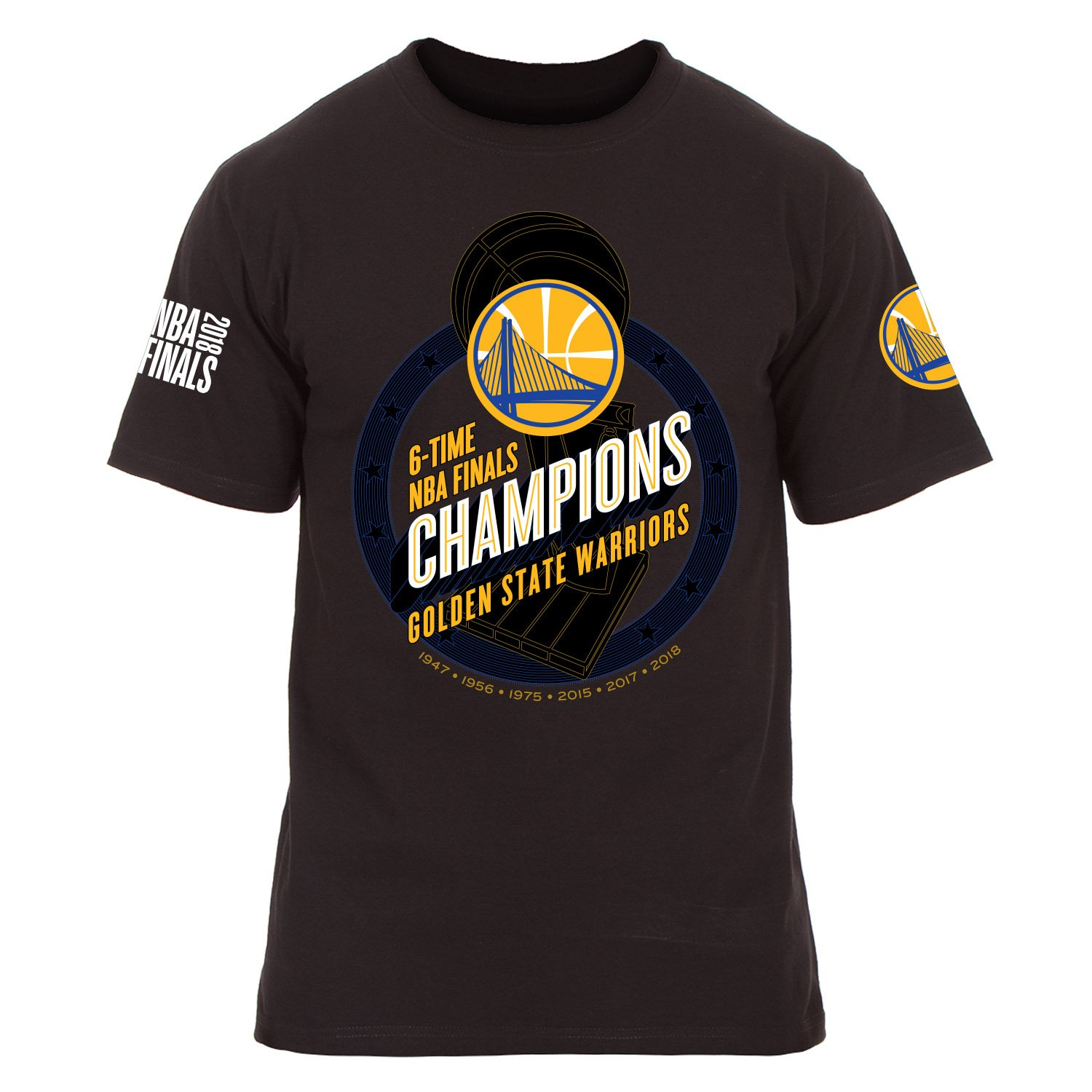 0395fbf4d72e Golden State Warriors 2018 6 Time NBA Road to Champions Game Roster T-Shirt  (Small) at Amazon Men s Clothing store