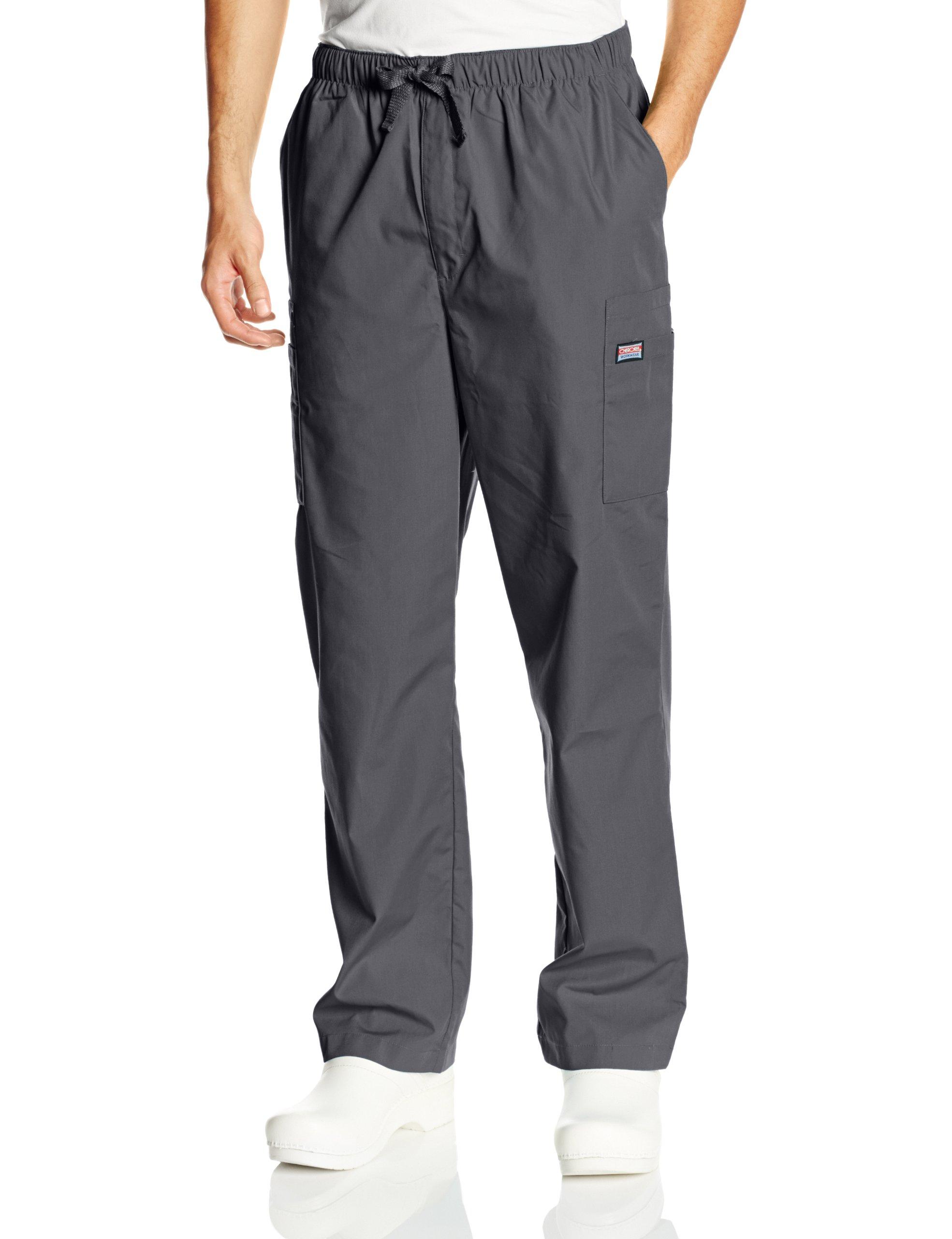 Cherokee Workwear Scrubs Men's Cargo Pant, Pewter, Medium/Short