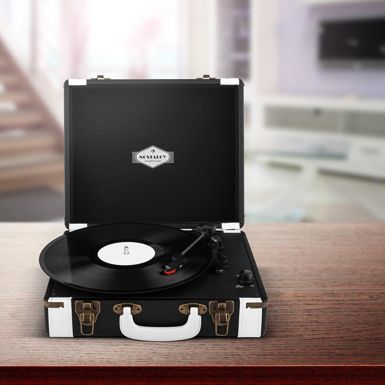 Auna Jerry Lee Record Collector Set Tocadiscos portátil Retro y ...