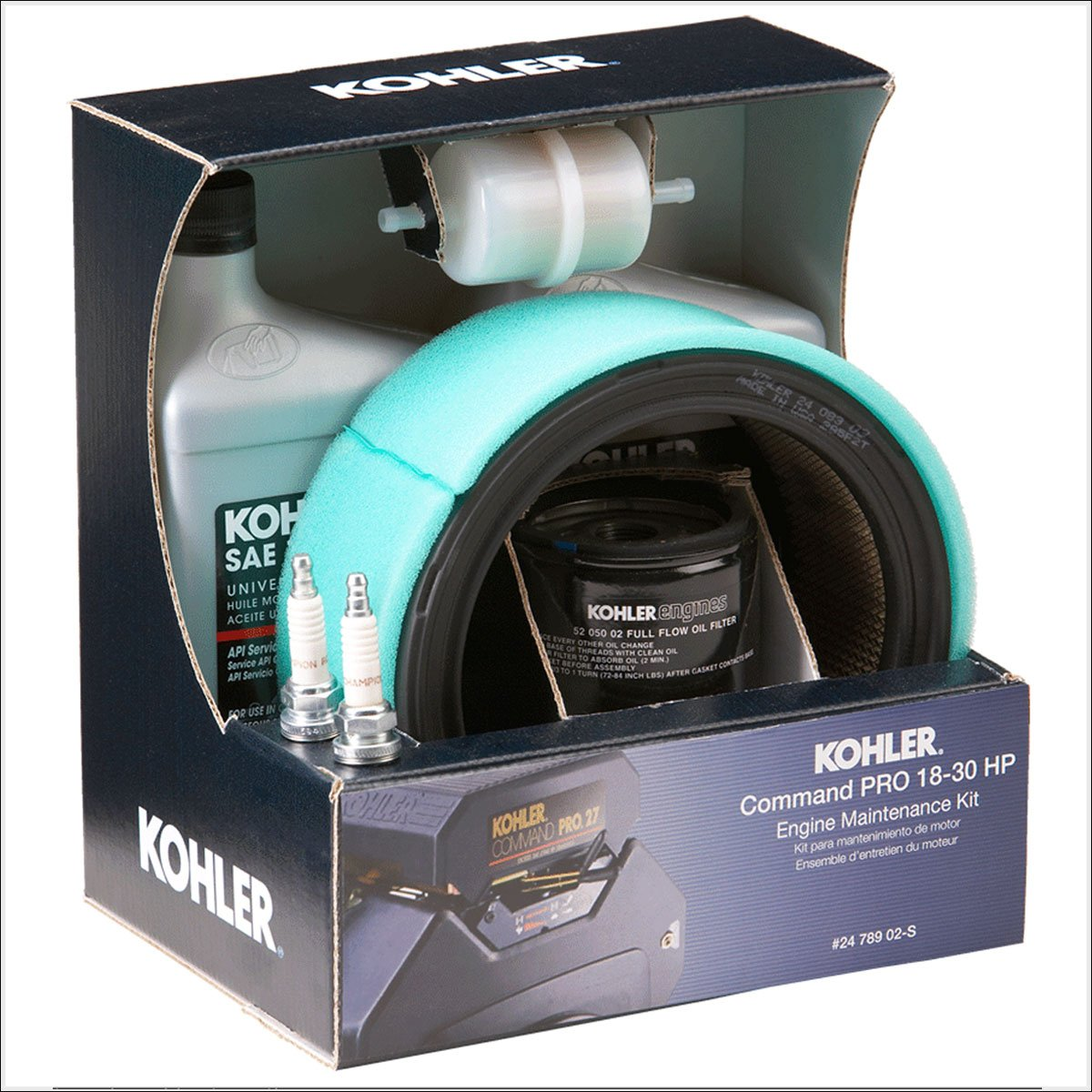 Kohler 24-789-02-S Lawn & Garden Equipment Engine Maintenance Kit Genuine Original Equipment Manufacturer (OEM) Part