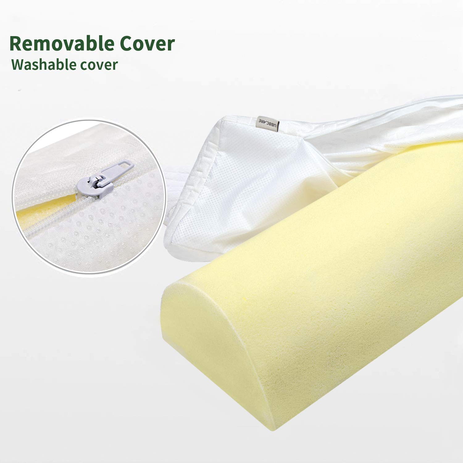 UBBCARE Memory Foam Toddlers Bed Rails Guard Bumpers Soft Portable Toddler Bed Safety Long Bedside Pillow Pads for Crib Kids Twin Baby Elderly with Machine Washable Cover 1 PC
