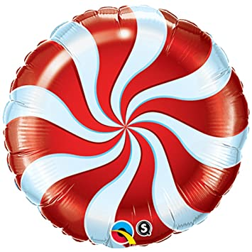 Peppermint Mylar Balloon Christmas Decorations By Qualatex