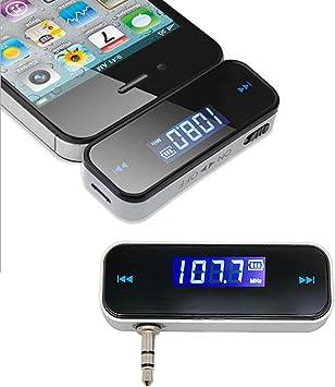 tinxi® Transmisor FM, FM Transmitter de 3.5mm universal para coche ...