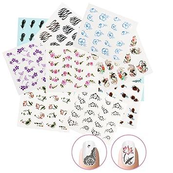 Nicedeco 15x Nagel Sticker Wrap Wasser Transfer Aufkleber Tattoo Tips Idee Als Nail Artphone Caseeinladungskarten Dekoration Typ 2