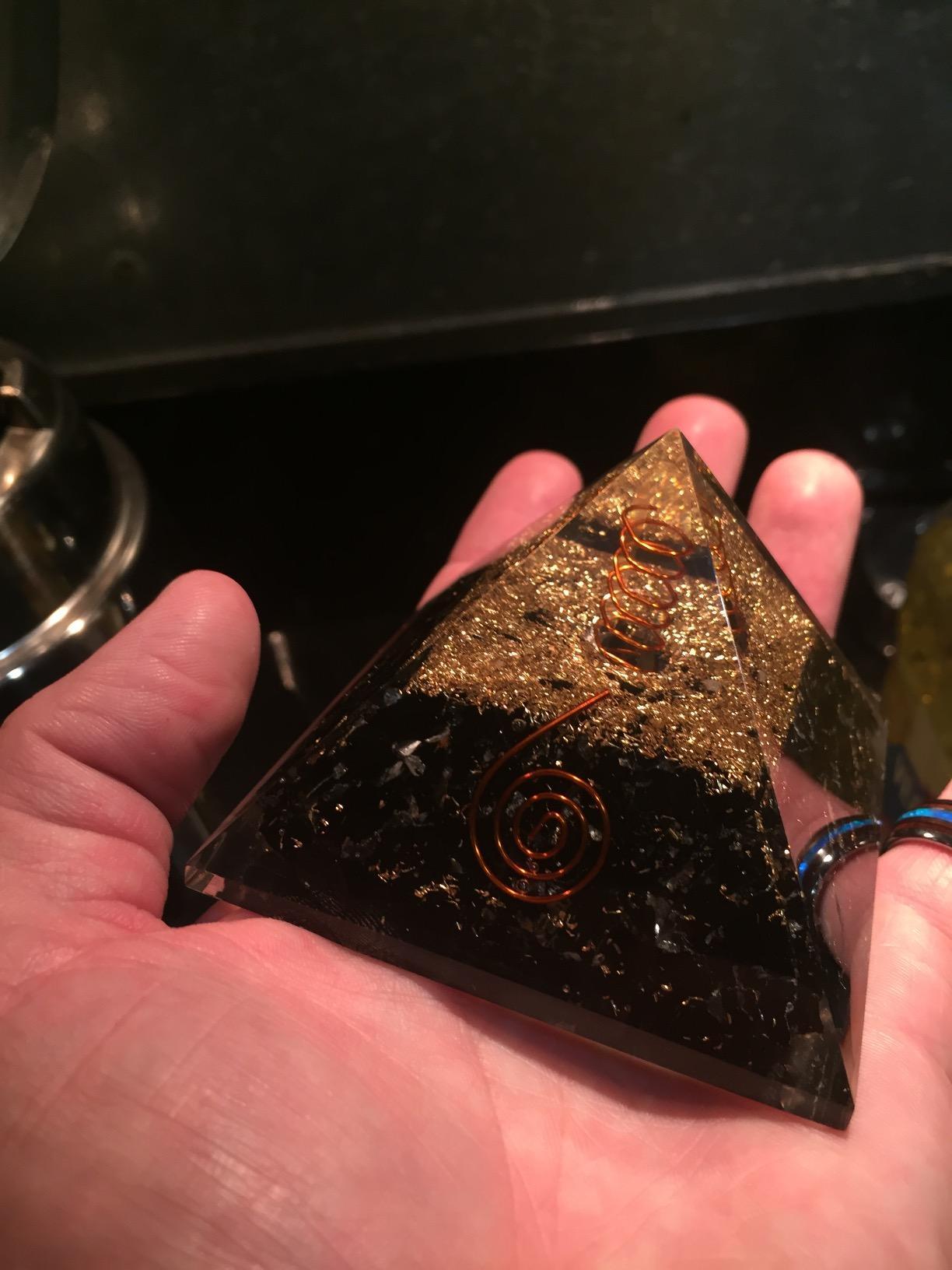 Black Tourmaline Orgone Pyramid photo review