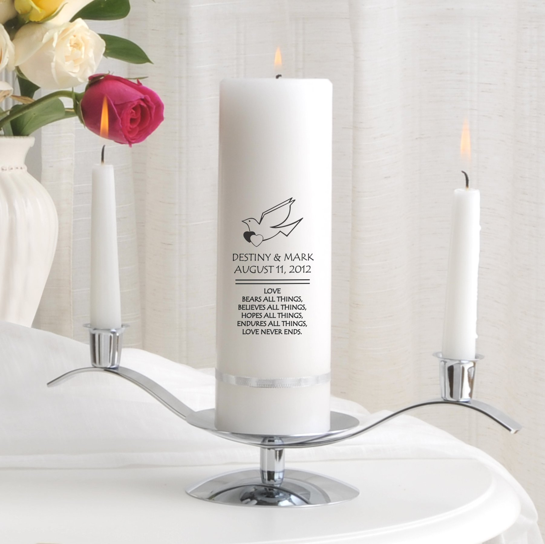 Personalized Wedding Unity Candle - Personalized Unity Candle Set - Imperial