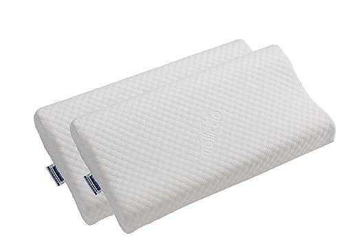 Todocama - Almohada viscoelástica Cervical con diseño ergonómico terapéutico. Doble Funda extraíble y Lavable. Fabricada íntegramente en España. ...