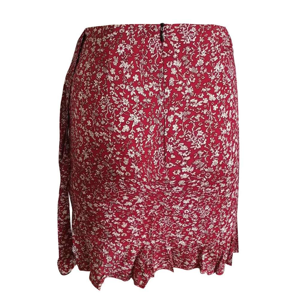Falda de Volantes Bodycon con Estampado de Vendaje Estampado ...