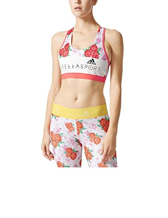 9117829e81 Image Unavailable. Image not available for. Color  ADIDAS STELLASPORT PADDED  PRINT SPORT BRA ...