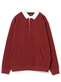 Beams Plus Pocket Rugby Shirt 11-12-0061-156: Burgundy