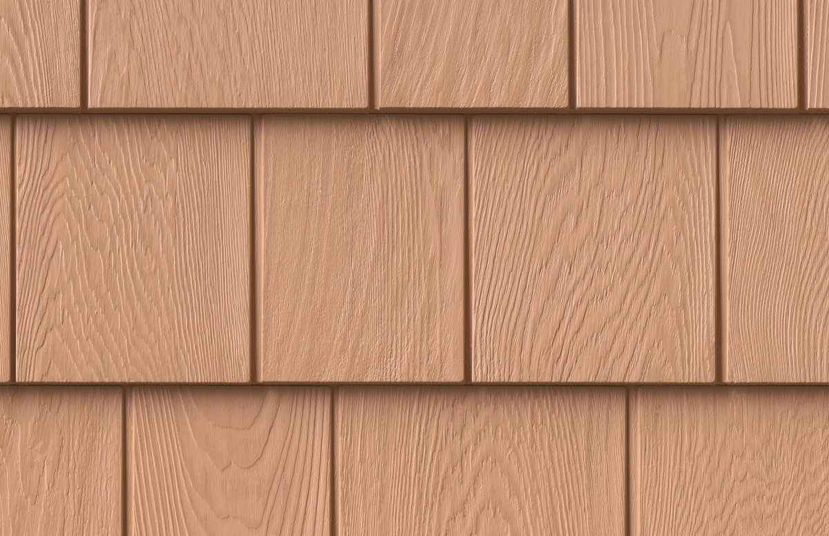 Grayne 7.5'' Red Cedar Shingle 452 Tuscan Gold Rigid PVC Composite