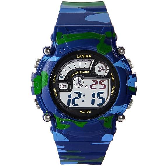 Hiwatch Relojes Deportivos Impermeable para los Niños/Niñas Reloj de Pulsera Digital a Prueba de Agua Infantiles Azul: Amazon.es: Relojes