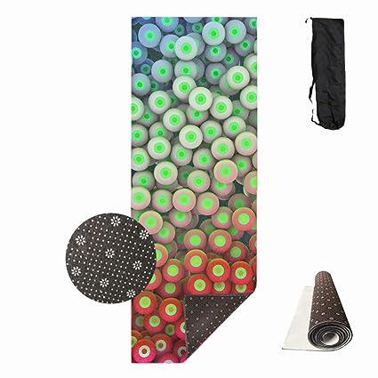 Amazon.com : Shllwe Circles Balls Eyes Bright Colorful Yoga ...