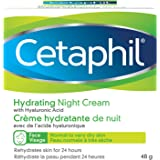 Cetaphil Hydrating Night Cream for Face (48gr) - Made with Hyaluronic Acid and Olive Oil Extract - 24Hr Intense Hydration - F