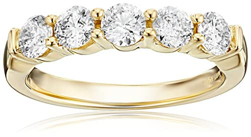 14k Gold Round Diamond Anniversary Band (1 cttw, IJ Color, I1-I2 Clarity)