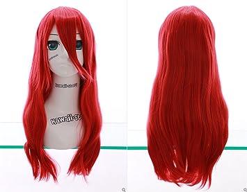 Kawaii-Story W DE 03 DE bc24 Rojo Red 60 cm Cosplay Peluca Wig Perruque