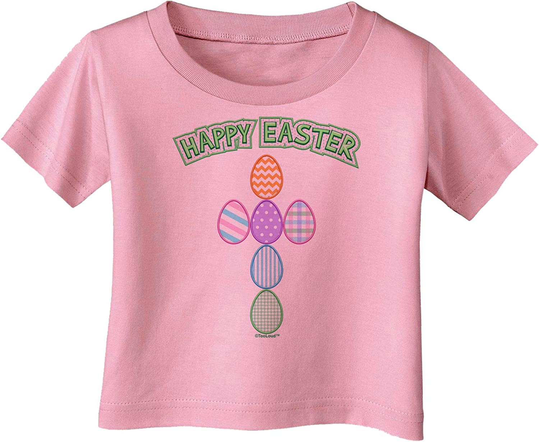 TOOLOUD Happy Easter Egg Cross Faux Applique Infant T-Shirt