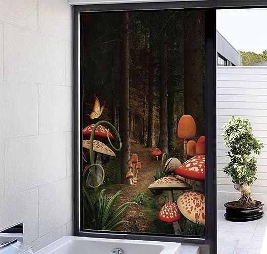 YOLIYANA - Película Decorativa para Ventana de Cristal, sin Pegamento, privacidad para Ventana, Adhesivo 3D de Vidrio para Puertas, armarios, baño, 17 x 24 Pulgadas: Amazon.es: Hogar