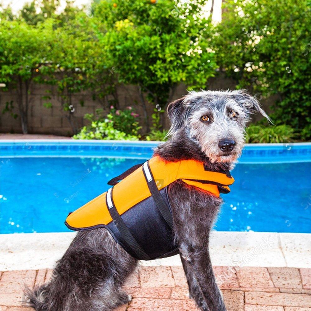 SILD Pet Life Jacket Size Adjustable Dog Lifesaver Safety Reflective Vest Pet Life Preserver Dog Saver Life Vest Coat for Swimming,Surfing,Boating, Hunting (XL, Orange) by SILD (Image #6)