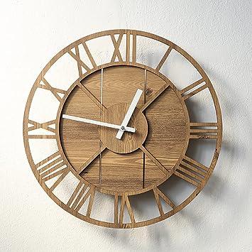 Amazon.de: FPigSHS Wanduhr Glocke Uhr Wohnzimmer Büro Industrie ...