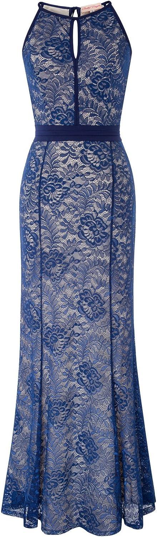 Belle Poque Damen Braujungfernkleid Lang Abendkleid Spitze Hochzeitskleid BP700