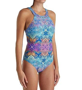 8c63a9f8f1 La Blanca Last Night in Morocco Hi-Neck One Piece Swimsuit (LB8LG17)  12/Last Night in Morocco at Amazon Women's Clothing store: