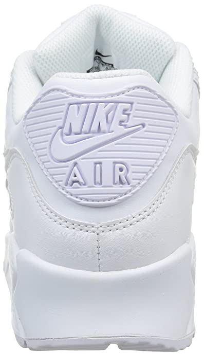 new style 29035 2c298 Amazon.com   NIKE Air Max 90 Mens Leather Running Shoes White Casual  Classic Retro Throwback Sneakers   Road Running