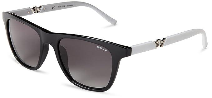 black and gold aviator sunglasses  Amazon.com: Police Men\u0027s S1800M 53700X Wayfarer Sunglasses, Black ...