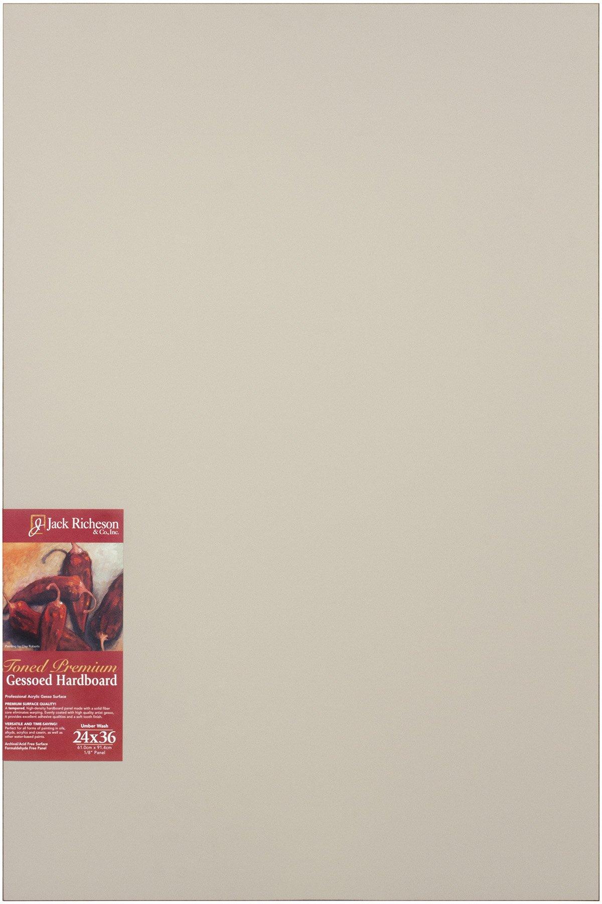 Jack Richeson Richeson Umber Wash Gessoed 1/8'' Hardboard 24''x36'' by Jack Richeson