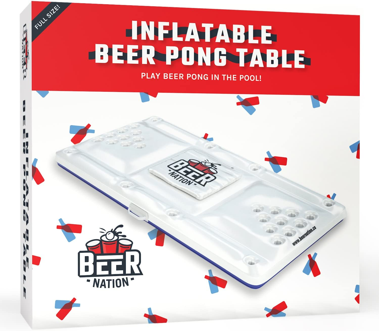 Amazon.com: Beer Nation - Mesa hinchable con enfriador ...