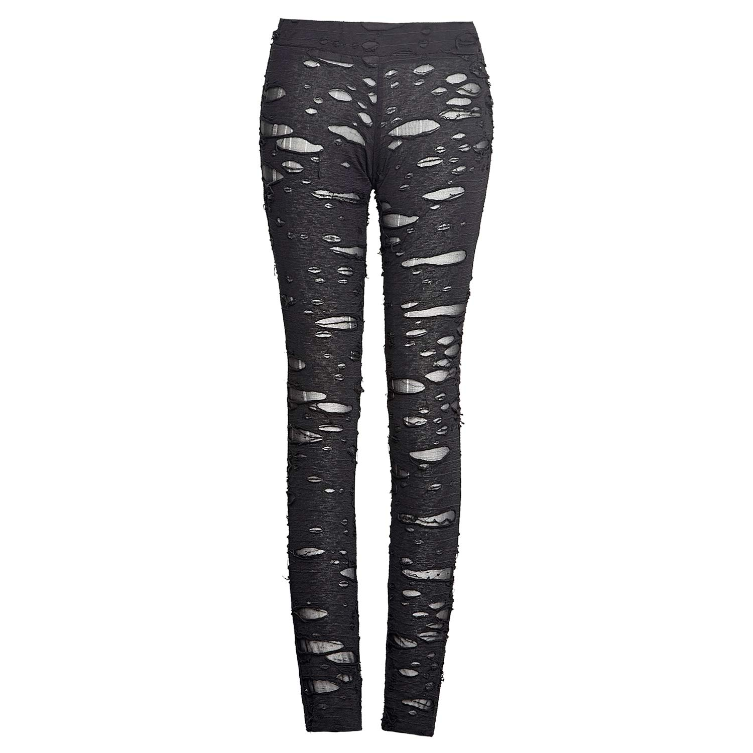 cc0f649e49baa Punk Rave Womens Sexy Ripped Mesh Leggings Gothic Punk Tattered Slimming  Pants Trousers at Amazon Women's Clothing store: