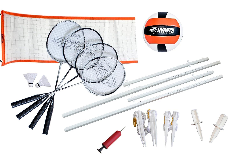 Triumph Sports Volleyball/Badminton Combo Set Triumph Sports USA 35-7142-2