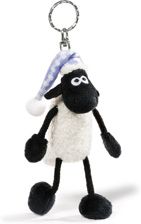 NICI 41460/Shaun the Sheep Keyring with Night Cap unisex children 10/cm Colour: White//Black