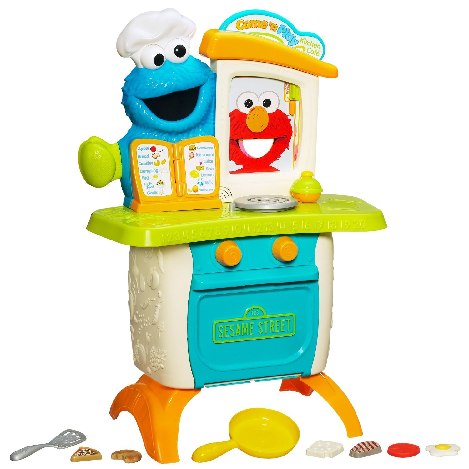 Play kitchen clip art - Amazon Com Sesame Street Playskool Come N Play Cookie Monster Kitchen Cafe Play Set Age 18 Months And Up Toys Games