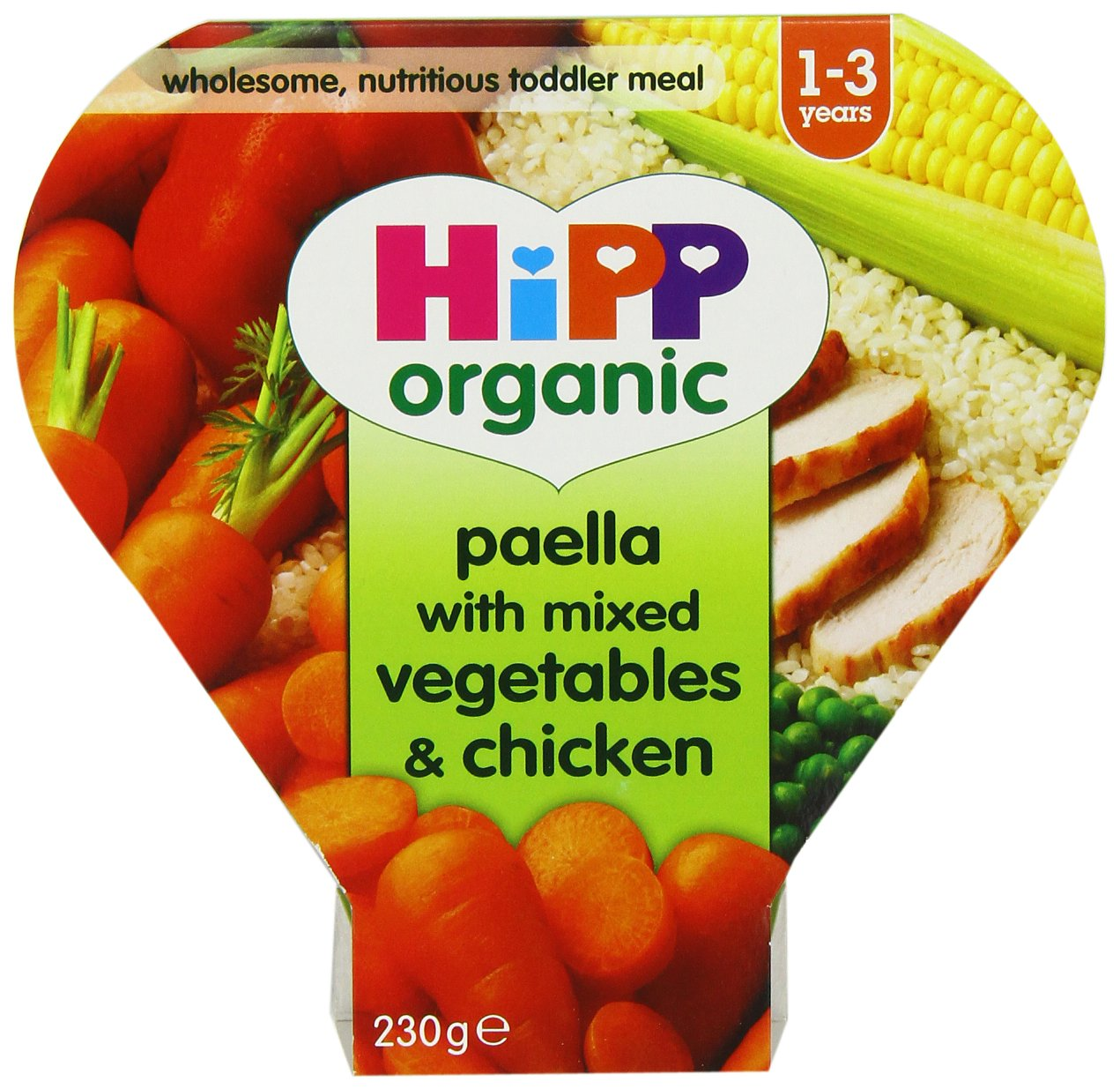 HiPP Organic Paella with Mixed Vegetables and Chicken 230 g (Pack of 5) GB7722.46
