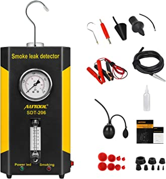 PLAYOCCAR SDT-205 Automotive EVAP System Leak Detector Machine 12V Air /& Smoke Modes Pipes Fuel Leakage Diagnositc Tester for All Vehicles