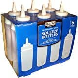 Daily Chef translucent white squeeze bottles -16 Oz. - 6 pk.