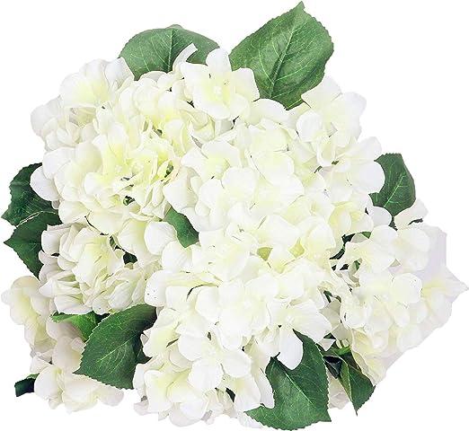 Amazon Com Lannu Artificial Hydrangea Flowers Silk Floral Fake